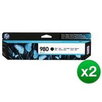 HP 980 Black Original Ink Cartridge (D8J10A)(2-Pack)