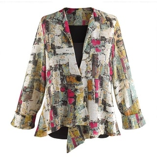 Women's Sunrise Mesh One-Button Fashion Jacket - Long Sleeve Blazer