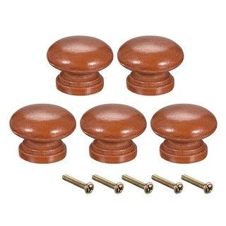 Round Pull Knob Handle 33mm Dia Cabinet Furniture Bedroom Kitchen Drawer 5pcs - 35mmx25mm(D*H)-5pcs
