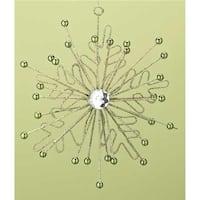 7.75 in. Good Tidings Green Glittered & Beaded Snowflake Starburst