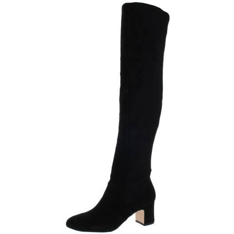 Splendid Womens Charlotte Over-The-Knee Boots Suede Block Heel