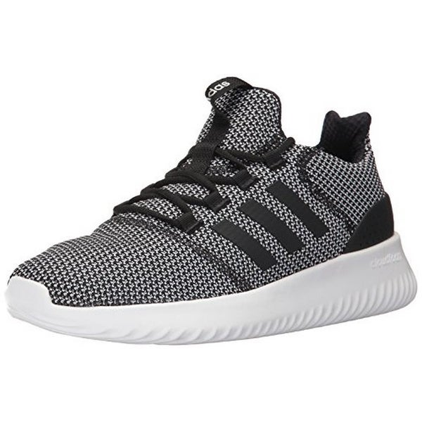 Adidas Mens Cloudfoam Ultimate, Black/Black/White