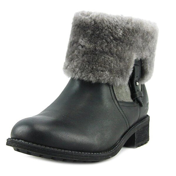 38806bd6d90 Shop UGG Chyler Women Round Toe Leather Black Ankle Boot - Free ...