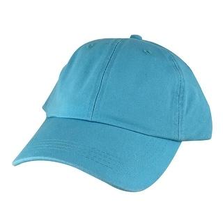 Hip Hop Skateboard PLC01 Cotton Dye Washed Unstructured Dad Cap Adjustable Strapback Hat - Aqua Blue - Teal