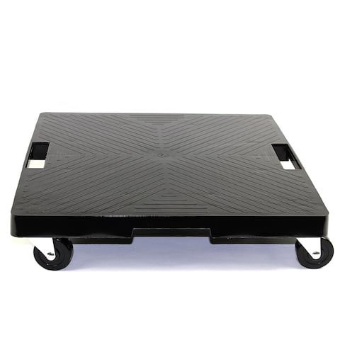 """16"""" Black Square Plant Dolly with Handle"""
