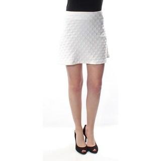 Womens White Mini A-Line Skirt Size S