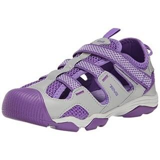 Teva Girls Jansen Contrast Trim Leather Sport Sandals