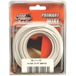 Coleman Cable 55669033 Road Power Primary Wire, 14 Gauge, 17', White