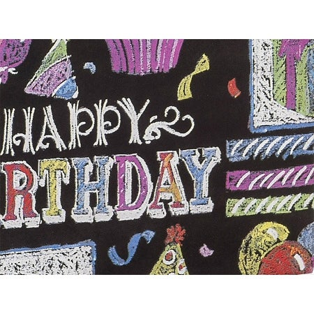 Shop Pack Of 1 Chalkboard 24 X 85 Roll Birthday Gift Wrap For 40 50 Gifts Made In Usa