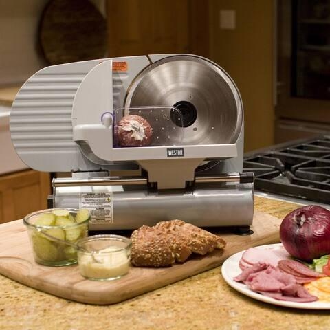 """Weston 61-0901-W Electric Heavy Duty Food Slicer w/ Stainless Steel, 9"""", 150W"""