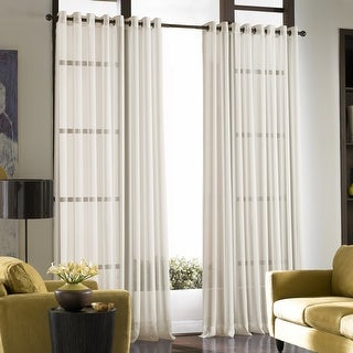 Link to Solid Soho Sheer Grommet Single Curtain Panel Similar Items in Window Treatments