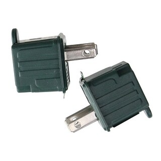 """Set of 2 Stanley Green 3 - Prong to 2 - Prong Outlet Adapters 1.75"""""""