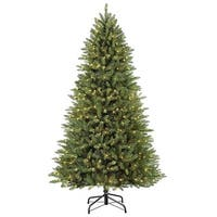 7.5' Pre-Lit Fraser Fir Slim Artificial Christmas Tree - Green