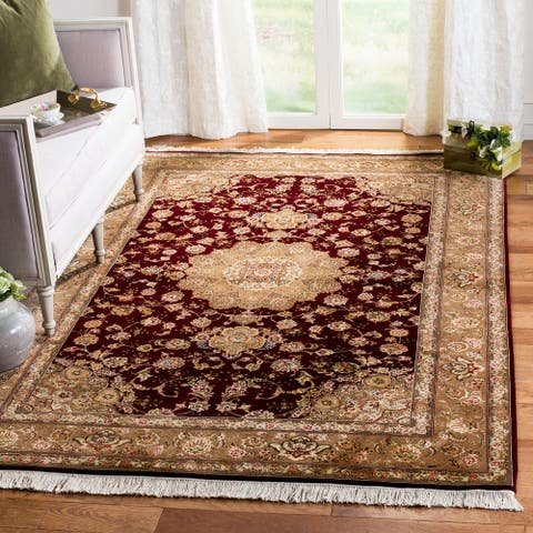 SAFAVIEH Couture Hand-knotted Tabriz Floral Ljutza Traditional Oriental Wool Rug