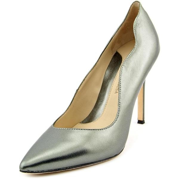 Carolinna Espinosa Sumpter Women Pointed Toe Leather Silver Heels