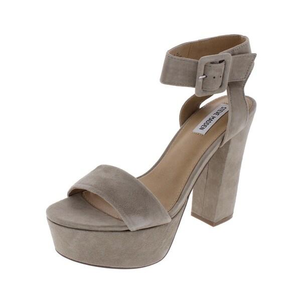 9cfb002e272 Shop Steve Madden Womens Joline Platform Sandals Suede Covered Heel ...