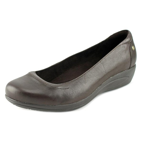 Hush Puppies Veda Oleena Women N/S Round Toe Leather Brown Loafer