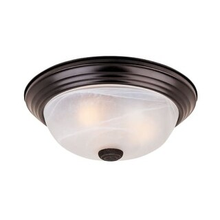 """Designers Fountain 1257S-ORB-AL 2 Light 11.25"""" Flush Mount with Alabaster Glass Shade"""