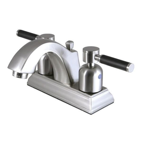 Kingston Brass FSC464.DKL Kaiser 1.2 GPM Centerset Bathroom Faucet with Pop-Up Drain Assembly and Neoprene Handles