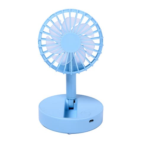 ABS Thermoplastic Polymer Foldable Adjustable Angle Handheld Mini Fan