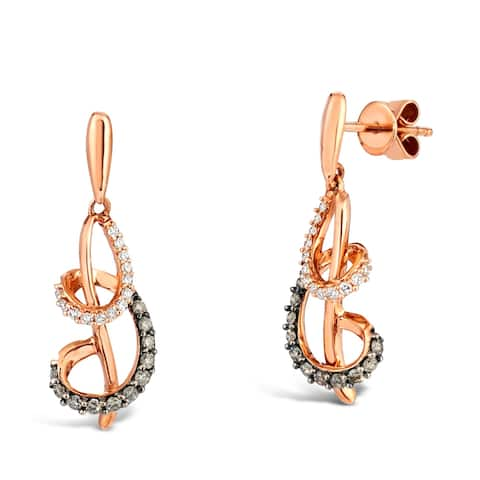 Encore by Le Vian Chocolate Diamond 14K Rose Gold Earrings