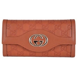 New Gucci 282434 GG Guccissima Burnt Orange Leather Sukey Continental Wallet