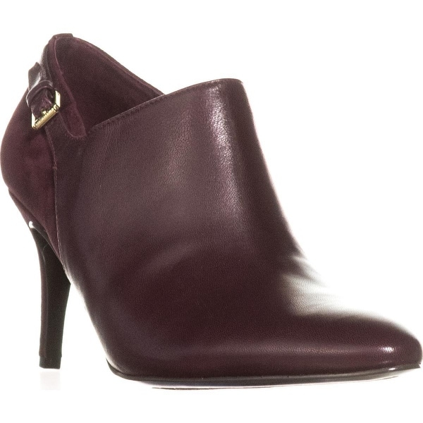 Lauren Ralph Lauren Pabla Dress Booties, Claret