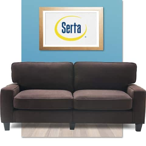 """Serta Palisades Upholstered 78"""" Sofas for Living Room Modern Design Couch, Straight Arms, Soft Upholstery, Tool-Free Assembly"""