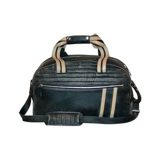 Scully Western Duffle Bag Antique Calf Leather Zipper Black