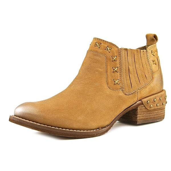 Naughty Monkey Miss M Women Pointed Toe Leather Brown Bootie