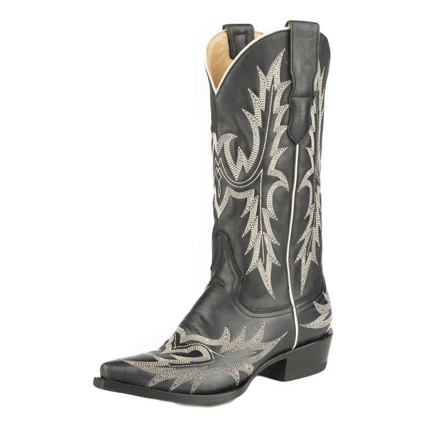 Stetson Western Boots Womens Cowboy Pita Black