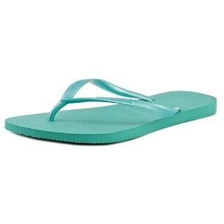 Havaianas Slim Women  Open Toe Synthetic Blue Flip Flop Sandal