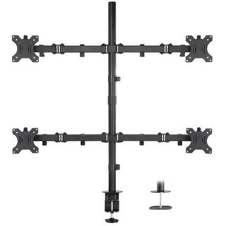 "Link to Mount-It! Quad Monitor Mount, 4 Screen Desk Stand Fits 17""- 32"" Computer Screens, ADJ, Clamp & Grommet Base, VESA 75x75/100x100 Similar Items in Monitor Accessories"