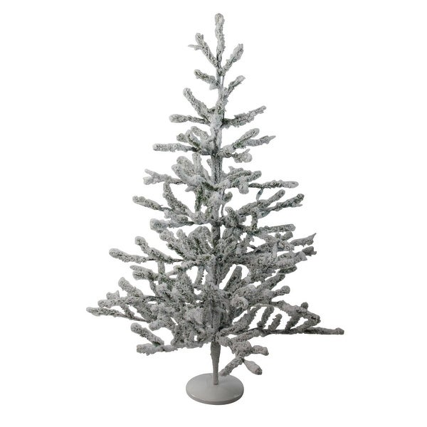 """36"""" Flocked Alpine Coral Artificial Christmas Tree - Unlit - WHITE"""