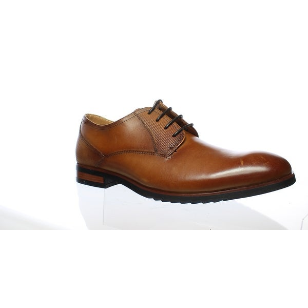 e772f85e3e8 Shop Steve Madden Mens Lawton Cognac Leather Oxford Dress Shoe Size ...