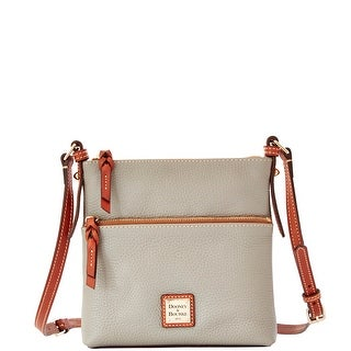 Dooney & Bourke Pebble Grain Letter Carrier (Introduced by Dooney & Bourke at $168 in Oct 2014) - Smoke