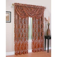 Milawi Jacquard Sheer Rod Pocket Panel, 54x84 Inches, 2-Pack - N/A
