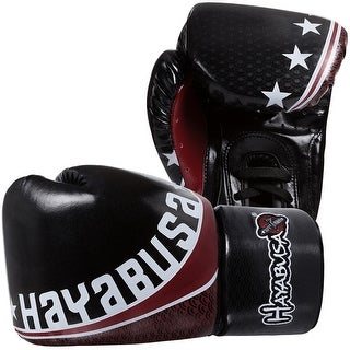 Hayabusa Professional Muay Thai Lace Up Gloves - Black - bag thai boxing mma