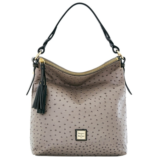 Dooney & Bourke Ostrich Small Sloan (Introduced by Dooney & Bourke at $288 in Jul 2016) - Grey