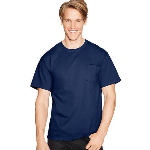 Hanes TAGLESS® Pocket T-Shirt