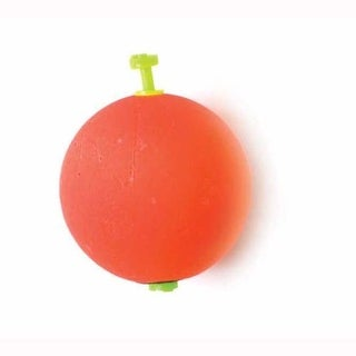 Eagle Claw Float Round Foam Weighted Snap-On Red 2ct 11/2'