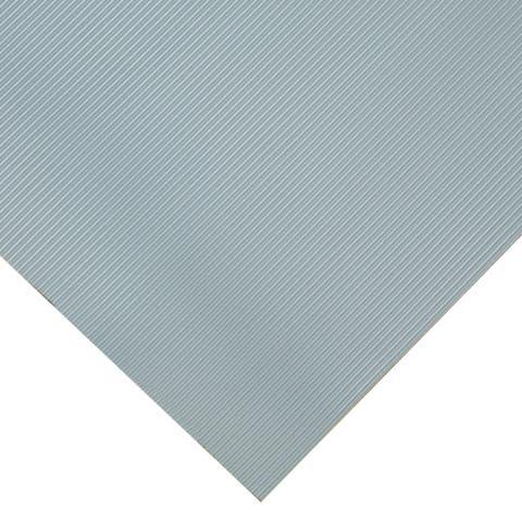 "Goodyear ""Fine-Ribbed"" Rubber Flooring -- 3.5mm x 36"" x 10ft - Dark Gray - 36x120"