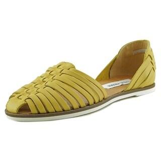 Steve Madden Hillarie Women Round Toe Leather Yellow Flats