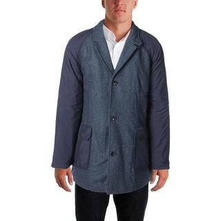 Tommy Hilfiger Mens Quilted Lining Front Patch Pockets Pea Coat