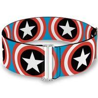 Captain America Shield Repeat Blue Cinch Waist Belt   ONE SIZE