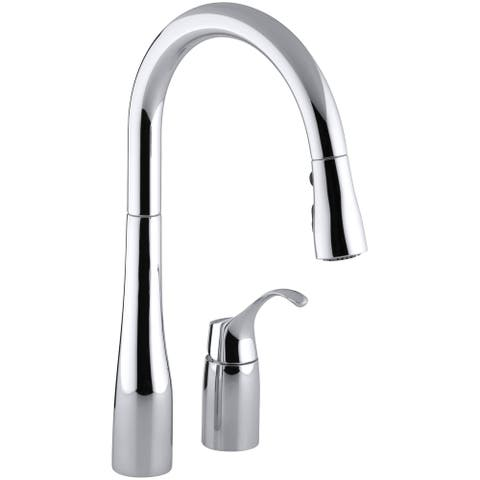 """Kohler K-647 Simplice Two-Hole Kitchen Sink Faucet with 16-1/8"""""""