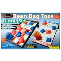 Daily Basic Party Family and Friends Fun 2 In 1 Bean Bag Toss Game Set - Toss 'n' Score and Toss - Tac - Toe