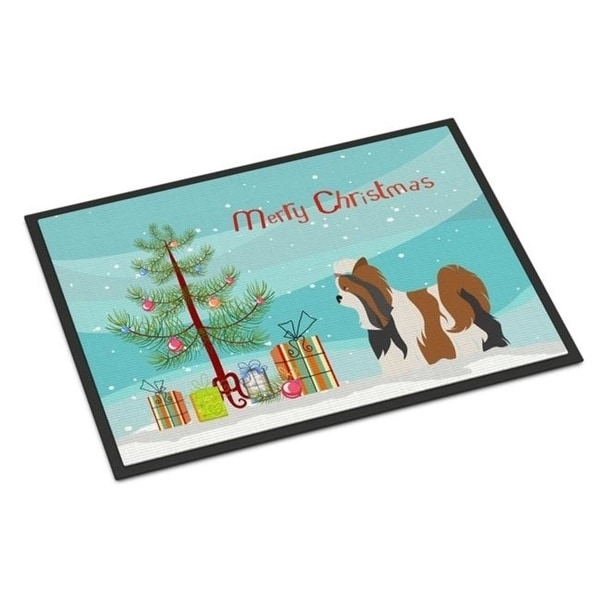 Carolines Treasures BB8470MAT Biewer Terrier Christmas Indoor or Outdoor Mat - 18 x 27 in.