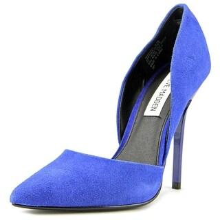Steve Madden Varcityy Women Pointed Toe Suede Blue Heels
