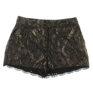 Rachel Rachel Roy Womens Shorts Lace Metallic - 4